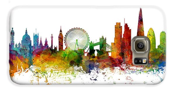 London Skyline Galaxy S6 Case - London England Skyline Panoramic by Michael Tompsett