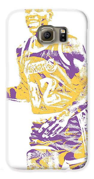 Magic Johnson Los Angeles Lakers Pixel Art 5 Galaxy S6 Case