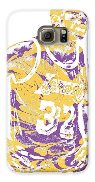 Magic Johnson Los Angeles Lakers Pixel Art 6 Galaxy S6 Case