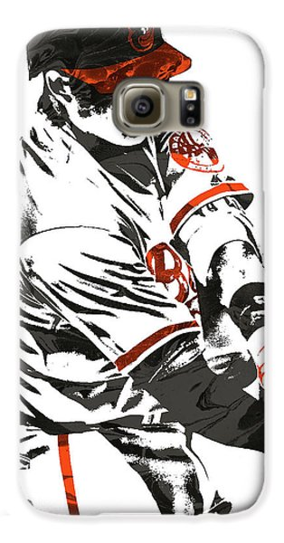 Oriole Galaxy S6 Case - Manny Machado Baltimore Orioles Pixel Art by Joe Hamilton