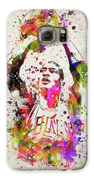 Michael Jordan In Color Galaxy S6 Case by Aged Pixel