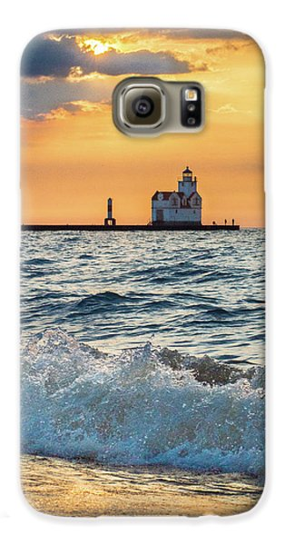 Galaxy S6 Case featuring the photograph Morning Dance On The Beach by Bill Pevlor