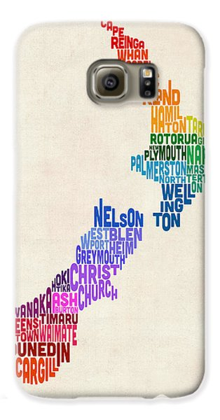 New Zealand Typography Text Map Galaxy S6 Case