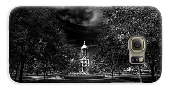 Notre Dame University Black White Galaxy S6 Case by David Haskett