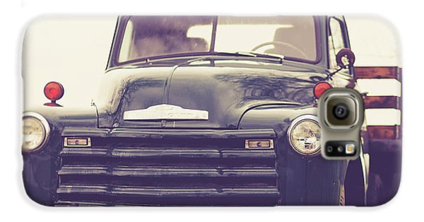 Classic Galaxy S6 Case - Old Chevy Farm Truck In Vermont Square by Edward Fielding