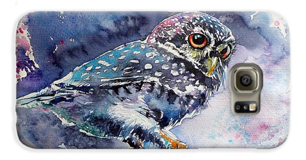 Owl At Night Galaxy S6 Case by Kovacs Anna Brigitta