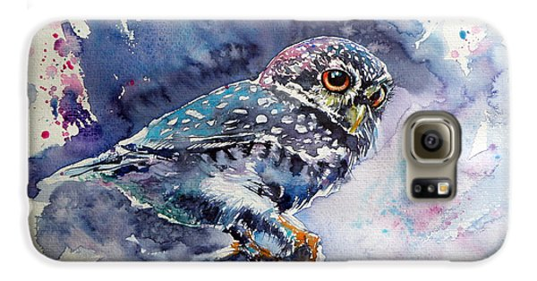 Owl Galaxy S6 Case - Owl At Night by Kovacs Anna Brigitta
