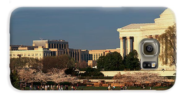 Panoramic View Of Jefferson Memorial Galaxy S6 Case by Panoramic Images