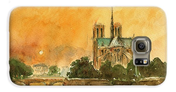 Paris Notre Dame Galaxy S6 Case by Juan  Bosco