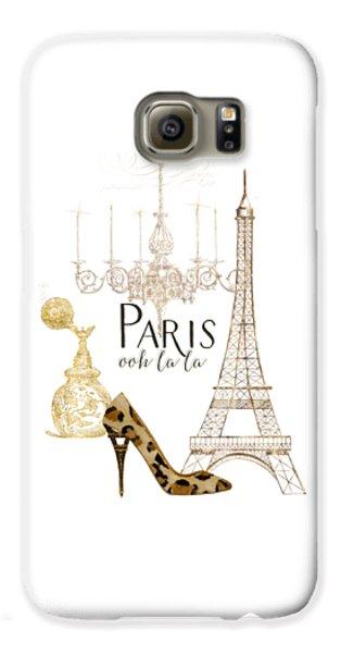 Paris - Ooh La La Fashion Eiffel Tower Chandelier Perfume Bottle Galaxy S6 Case