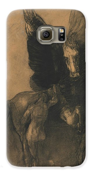 Pegasus And Bellerophon Galaxy S6 Case by Odilon Redon