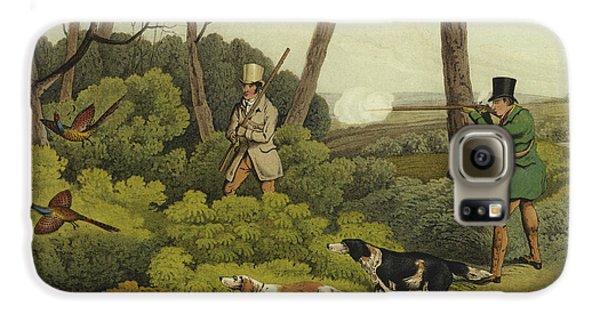 Pheasant Shooting Galaxy S6 Case by Henry Thomas Alken