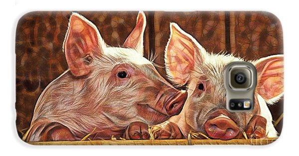 Pig Collection Galaxy S6 Case by Marvin Blaine