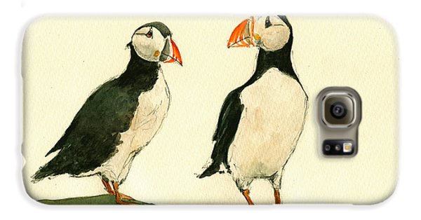 Puffin Galaxy S6 Case - Puffins  by Juan  Bosco