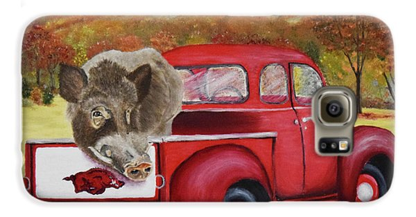 Ridin' With Razorbacks 2 Galaxy S6 Case by Belinda Nagy