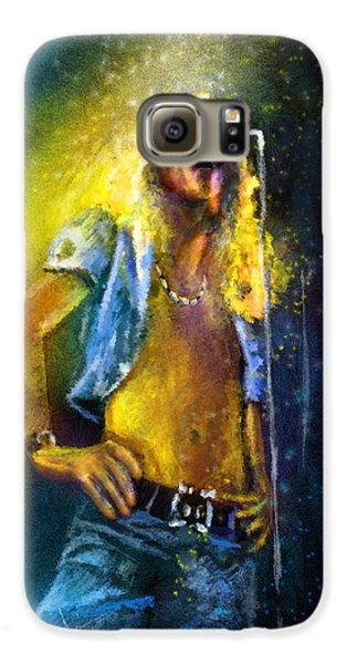 Robert Plant Galaxy S6 Case - Robert Plant 01 by Miki De Goodaboom