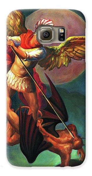 Galaxy S6 Case - Saint Michael The Warrior Archangel by Svitozar Nenyuk