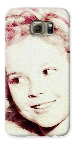 Shirley Temple Galaxy S6 Case - Shirley Temple, Vintage Actress by John Springfield