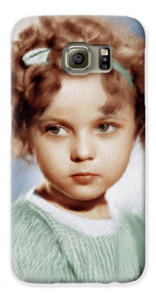 Shirley Temple Galaxy S6 Case - Shirley Temple, Vintage Actress by Mary Bassett