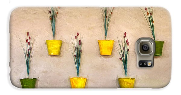 Six Flower Pots On The Wall Galaxy S6 Case