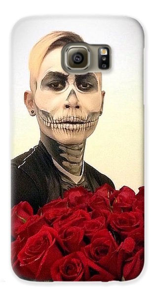 Skull Tux And Roses Galaxy S6 Case by Kent Chua