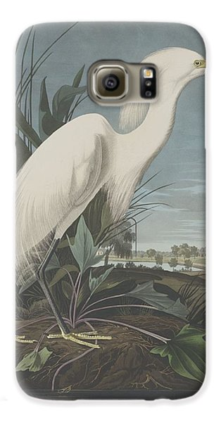Snowy Heron Or White Egret Galaxy S6 Case