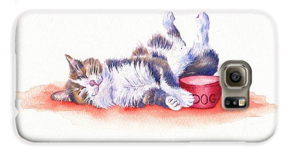 Cat Galaxy S6 Case - Stolen Lunch by Debra Hall
