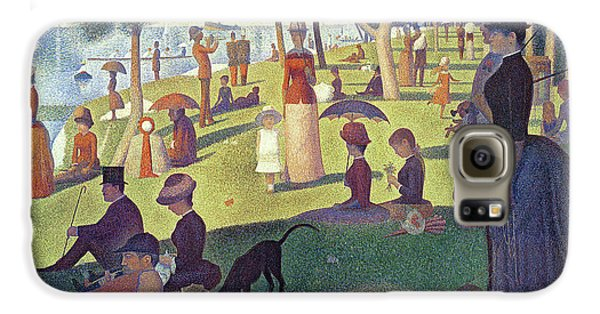 Dog Galaxy S6 Case - Sunday Afternoon On The Island Of La Grande Jatte by Georges Pierre Seurat