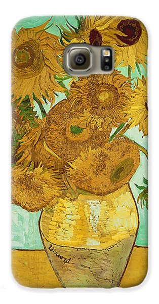 Flowers Galaxy S6 Case - Sunflowers By Van Gogh by Vincent Van Gogh