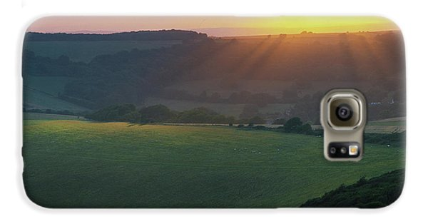 Sunset Over The South Downs Galaxy S6 Case