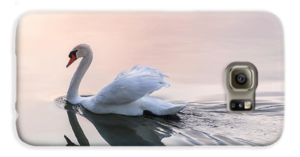 Sunset Swan Galaxy S6 Case by Elena Elisseeva