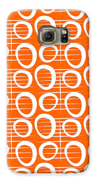 Tangerine Loop Galaxy S6 Case by Linda Woods