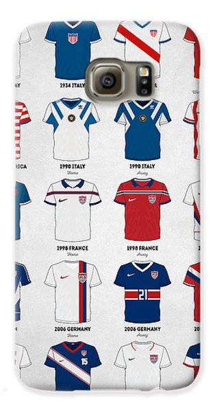 The Evolution Of The Us World Cup Soccer Jersey Galaxy S6 Case by Taylan Apukovska