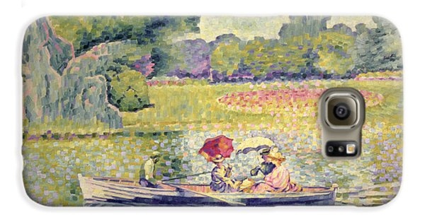 The Promenade In The Bois De Boulogne Galaxy S6 Case by Henri-Edmond Cross