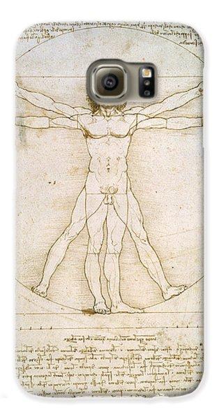 Nudes Galaxy S6 Case - The Proportions Of The Human Figure by Leonardo da Vinci
