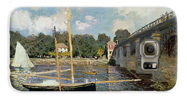 Boat Galaxy S6 Case - The Seine At Argenteuil by Claude Monet