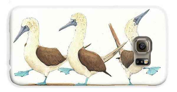 Three Blue Footed Boobies Galaxy S6 Case