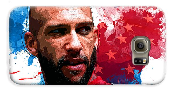 Tim Howard Galaxy S6 Case by Semih Yurdabak
