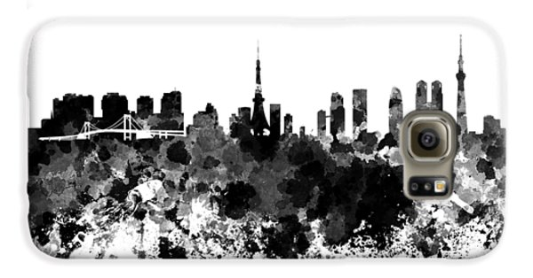 Tokyo Skyline In Watercolor On White Background Galaxy S6 Case by Pablo Romero