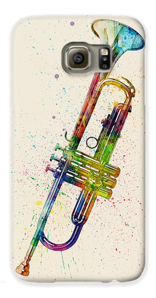 Trumpet Galaxy S6 Case - Trumpet Abstract Watercolor by Michael Tompsett