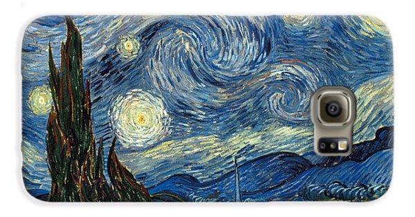 Van Gogh Starry Night Galaxy S6 Case by Granger