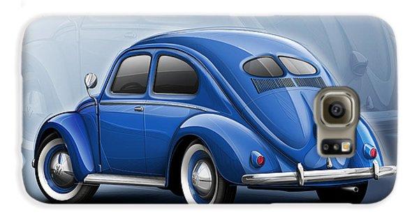 Volkswagen Beetle Vw 1948 Blue Galaxy S6 Case