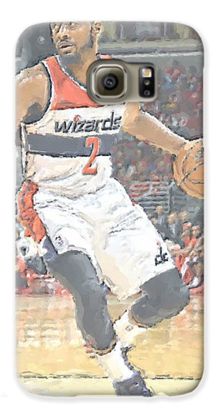 Washington Wizards John Wall Galaxy S6 Case by Joe Hamilton
