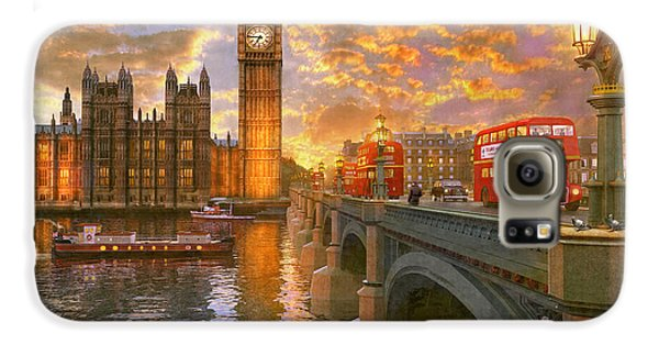 Pigeon Galaxy S6 Case - Westminster Sunset by Dominic Davison