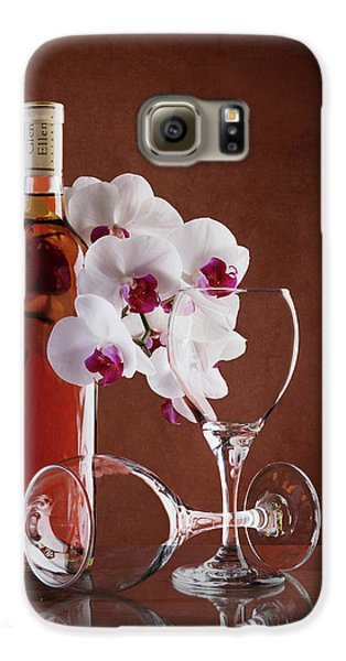 Orchid Galaxy S6 Case - Wine And Orchids Still Life by Tom Mc Nemar