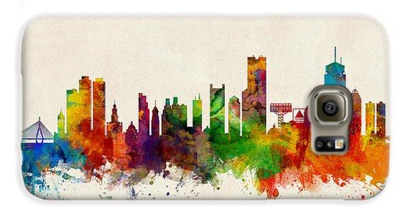 Boston Galaxy S6 Case - Boston Massachusetts Skyline by Michael Tompsett
