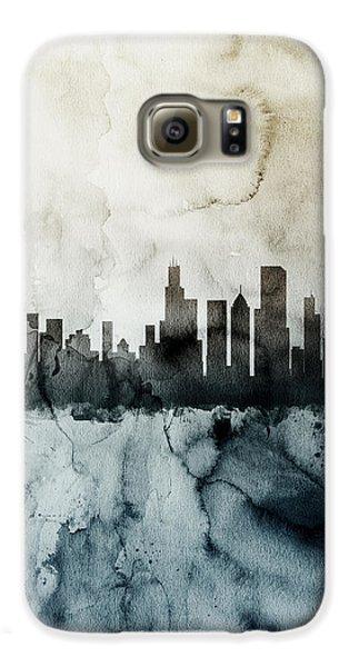 Chicago Illinois Skyline Galaxy S6 Case by Michael Tompsett