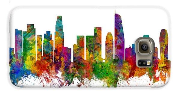 Los Angeles California Skyline Galaxy S6 Case by Michael Tompsett