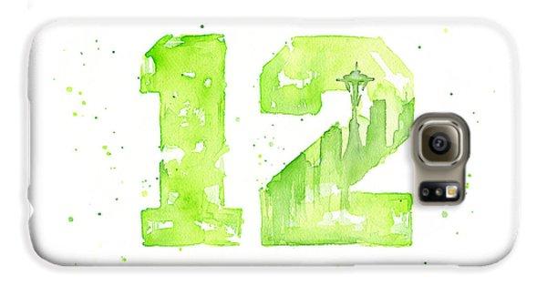 Seattle Galaxy S6 Case - 12th Man Seahawks Art Go Hawks by Olga Shvartsur