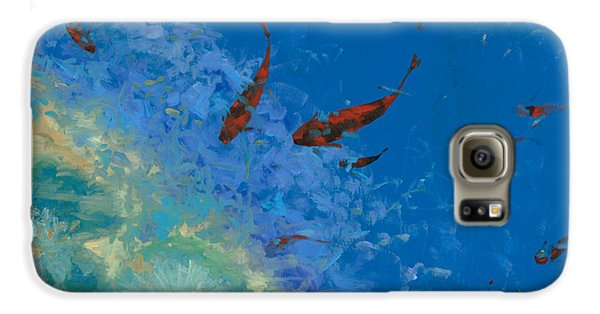 Fish Galaxy S6 Case - 13 Pesciolini Rossi by Guido Borelli